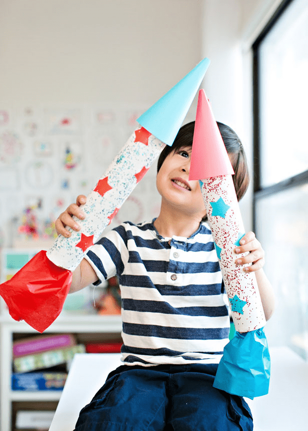 Easy DIY Cardboard Rockets