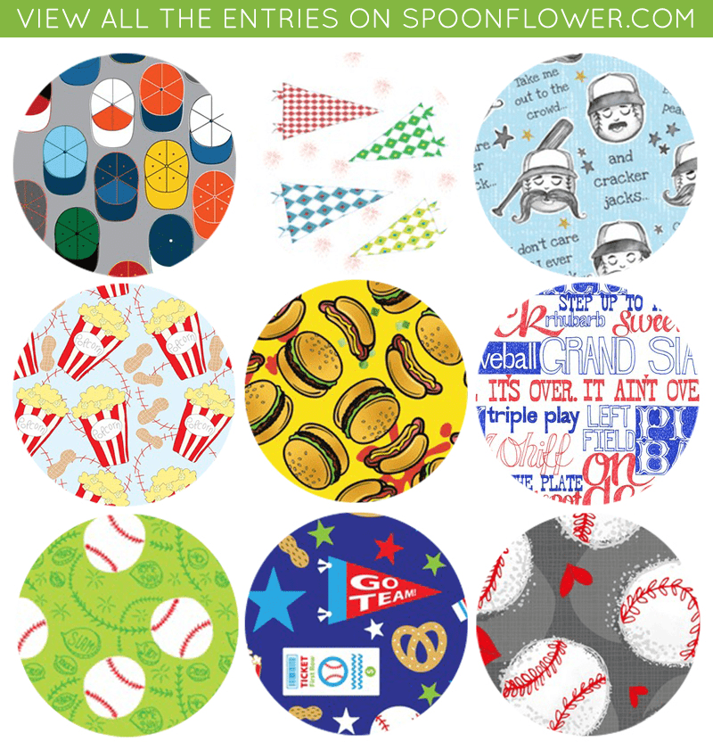 Vote for your favorite ballgame fabric
