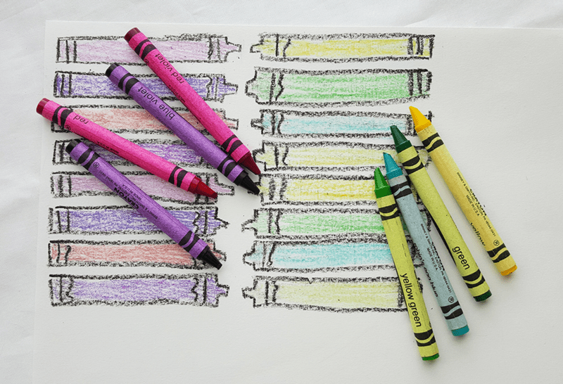 Crayon drawing