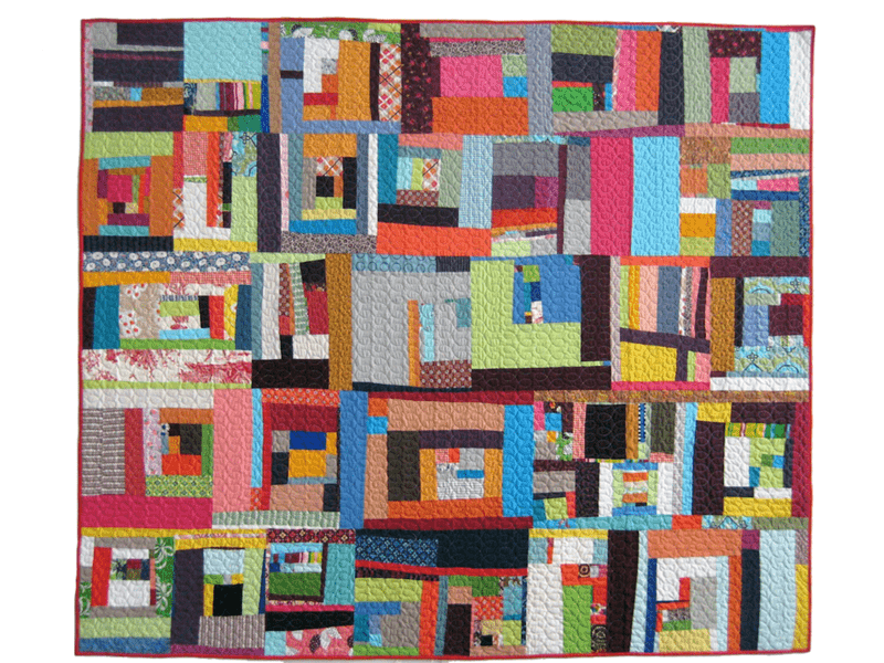 student quilt from a Denyse Schmidt workshop