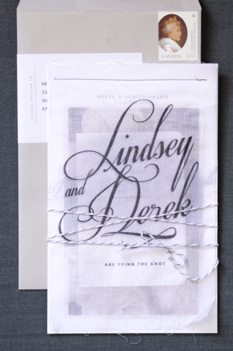 Fabric overlay invitations
