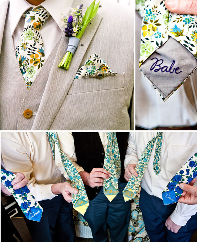 Custom ties to fit your wedding's theme