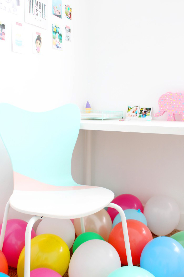 Color block desk chair