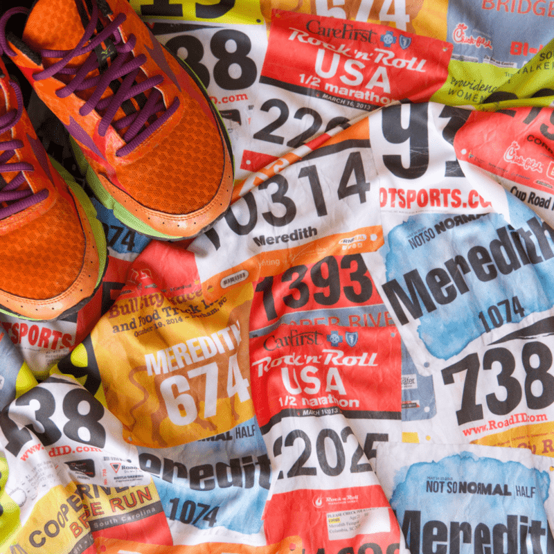 Create your own race bib fabric