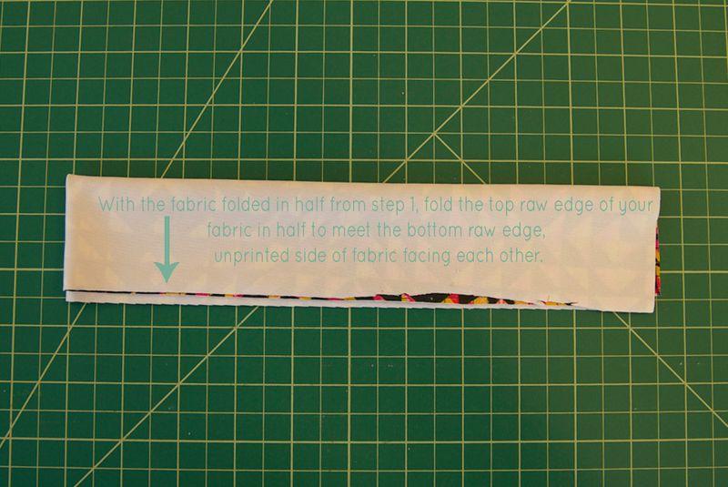 Fold your fabric, lengthwise (1)