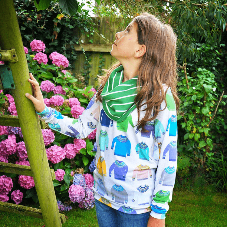A jumper featuring Ceri's Woolly Jumpers design
