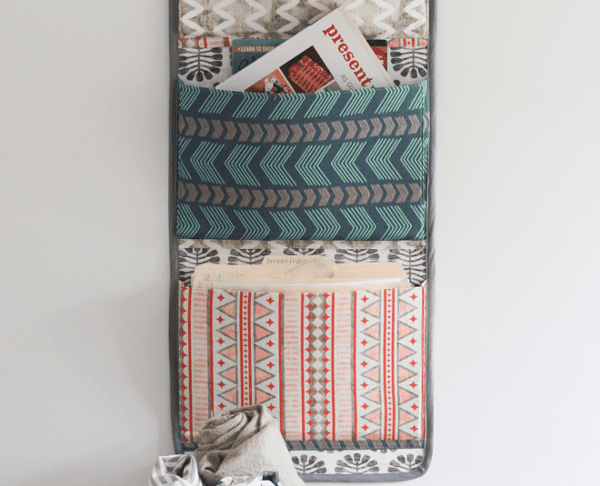use Linen Cotton Canvas to make a DIY fabric orgnizer