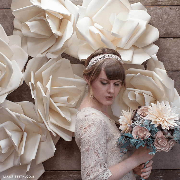 Create an eye-catching paper flower backdrop for your next celebration. | Spoonflower Blog