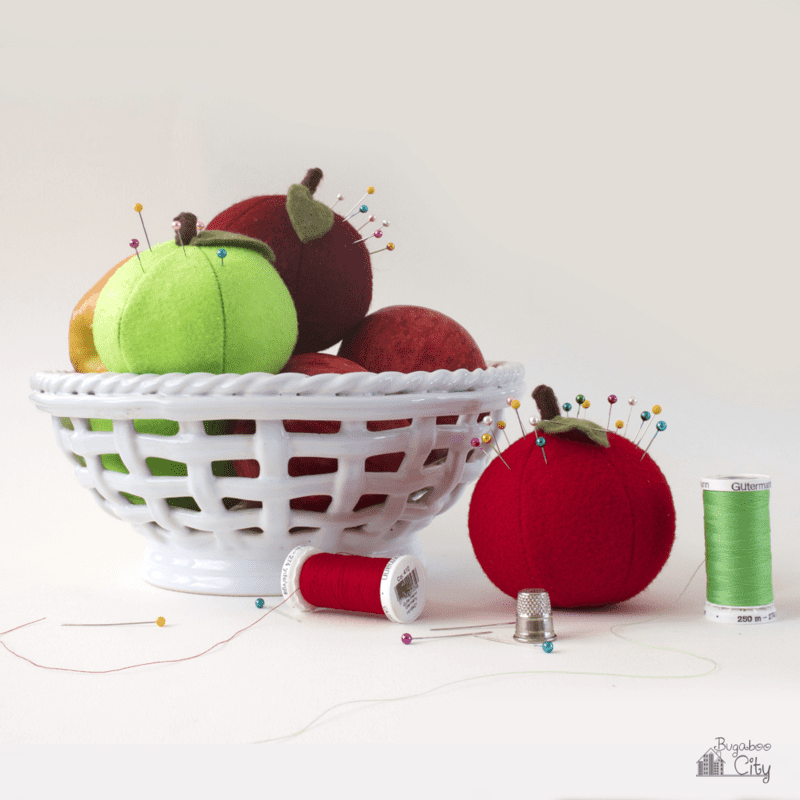 Apple pincushions