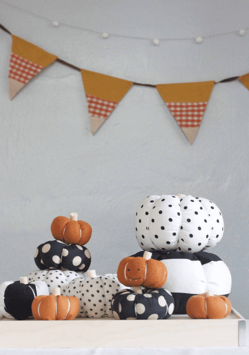 stuffed fabric pumpkins