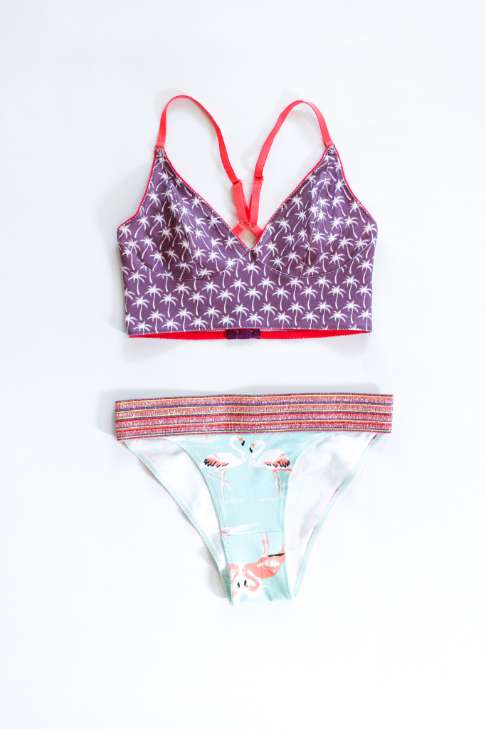 Learn to make your own bralettes and briefs with just a fat quarter of stretch knit