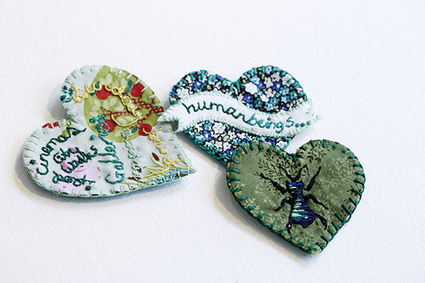 Hearts by the Craftivist Collective
