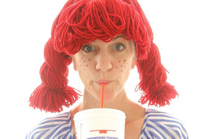 DIY yarn wig