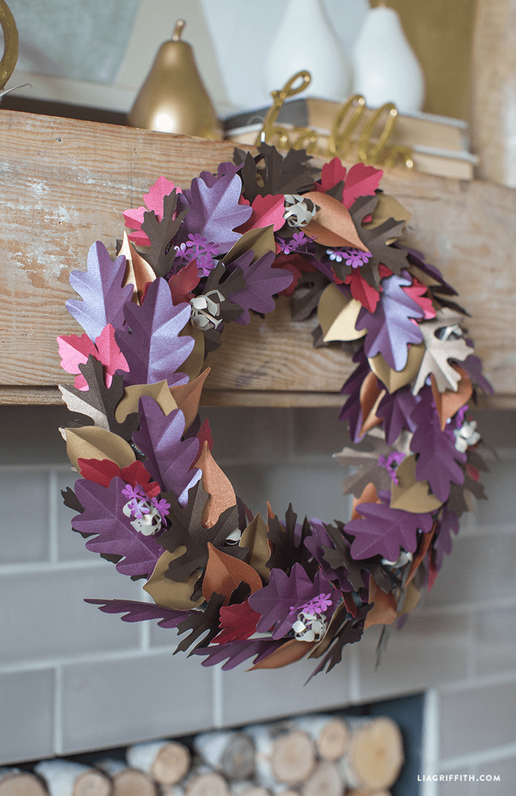 paper leaf wreath