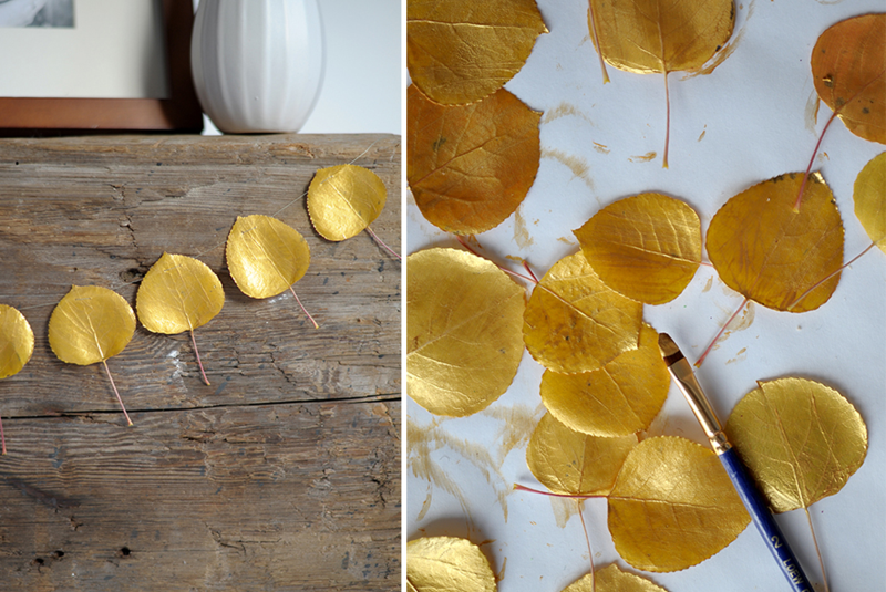 Easy DIY Gold Garland Leaves