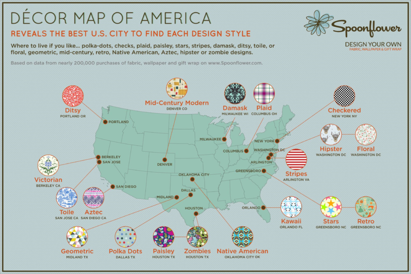 Decor Map Infographic Spoonflower