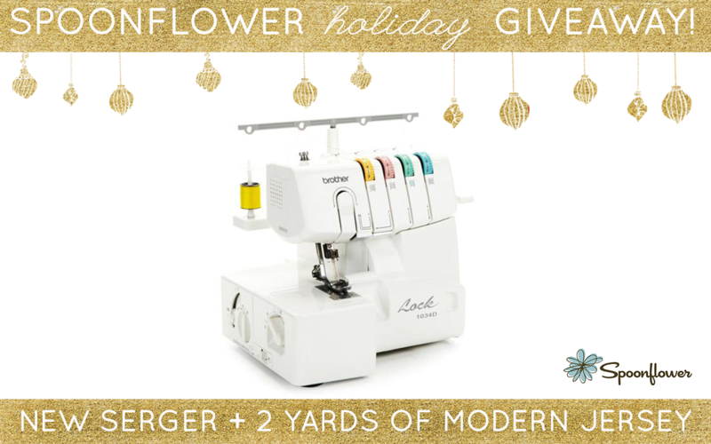 Win a serger + 2 yards of Modern Jersey!