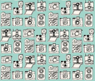 vintage cameras on Spoonflower