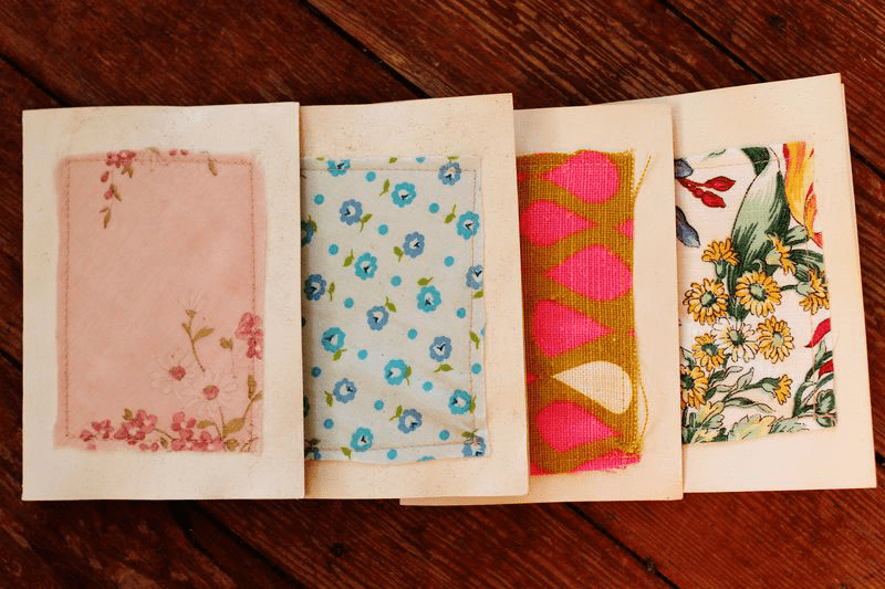 DIY Stationery with Fabric Scraps