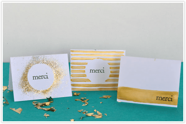 Gilded Thank You Notes