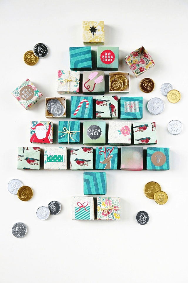 DIY Origami Box Advent Calendar
