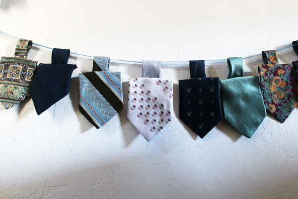 Dreidel Garland created from old ties!