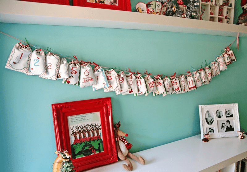 DIY Drawstring Bag Advent Calendar