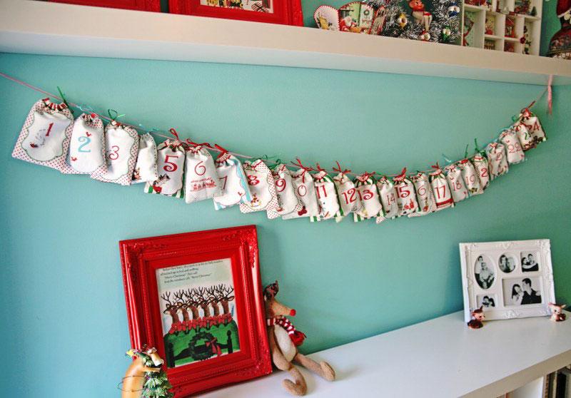 DIY Drawstring Bag Advent Calendar
