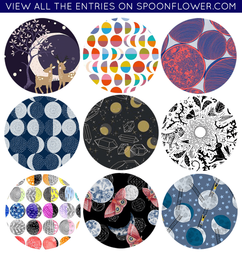 Vote for your favorite moon phases fabric