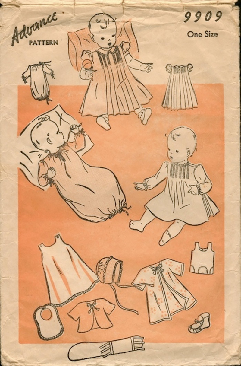 Vintage 1930s layette pattern
