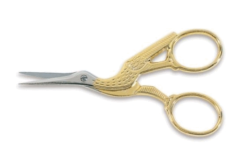 gold plated stork scissors from Gingher
