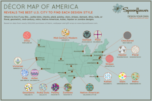 The Decor Map of America | Spoonflower