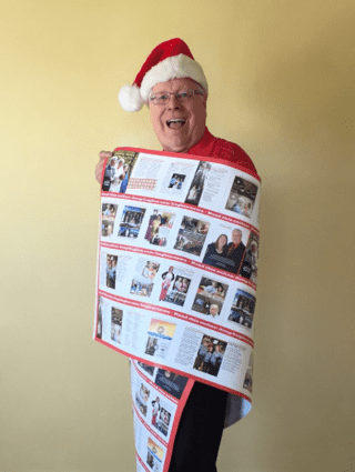 Doug Hughes, creator of world's widest Christmas newsletter