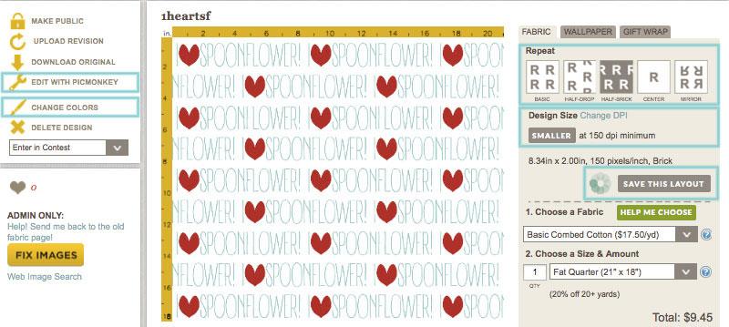 Spoonflower Design Screen