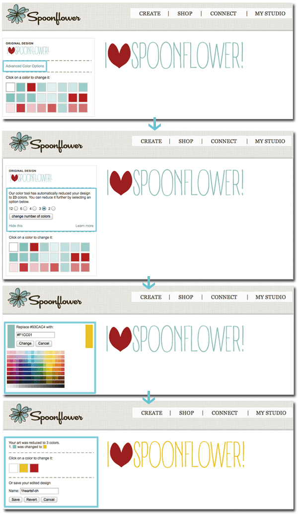 Spoonflower Color Changer