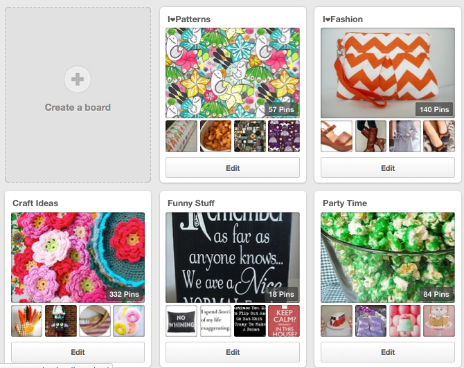 Creating a Pinterest board