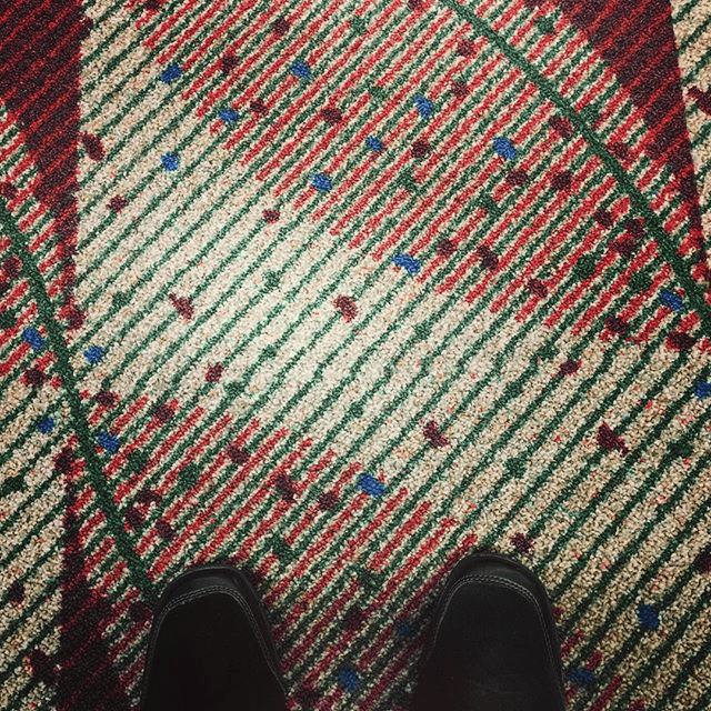 finding inspiration in an airport carpet!