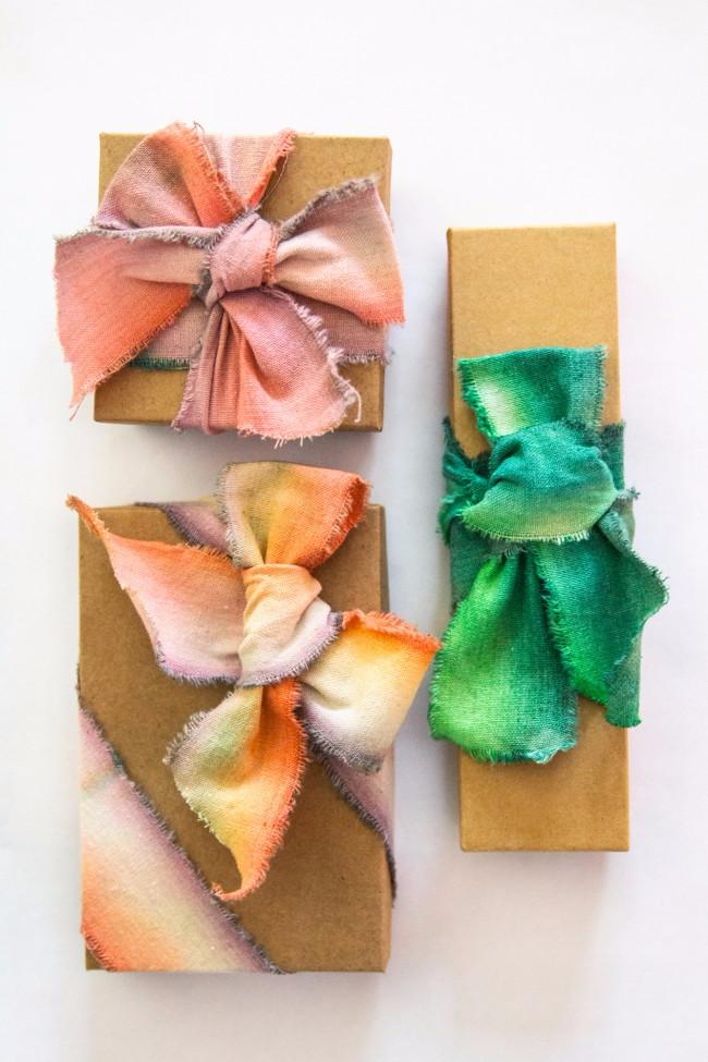 dip-dyed ribbons