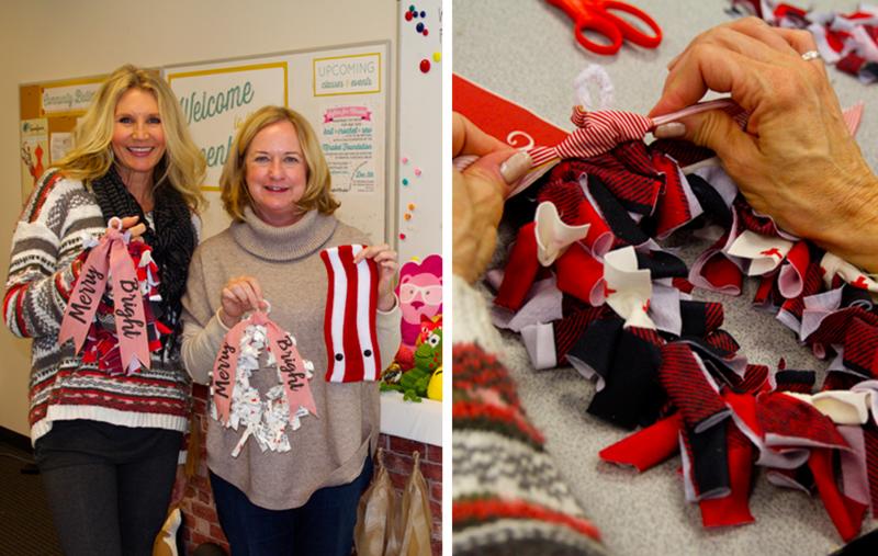Festive fabric wreaths!