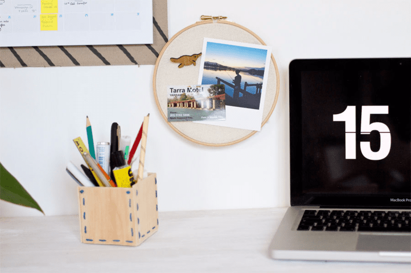 DIY Polaroid Display Memory Hoop via Look What I Made