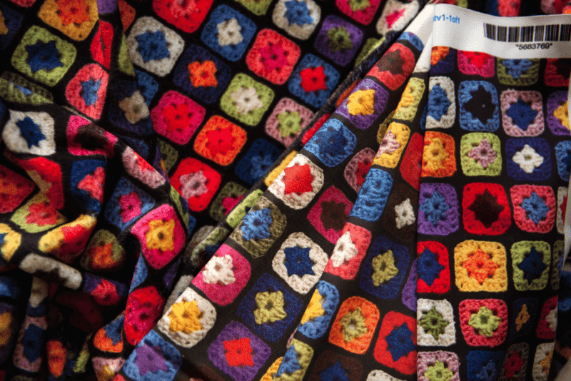 granny square fabric