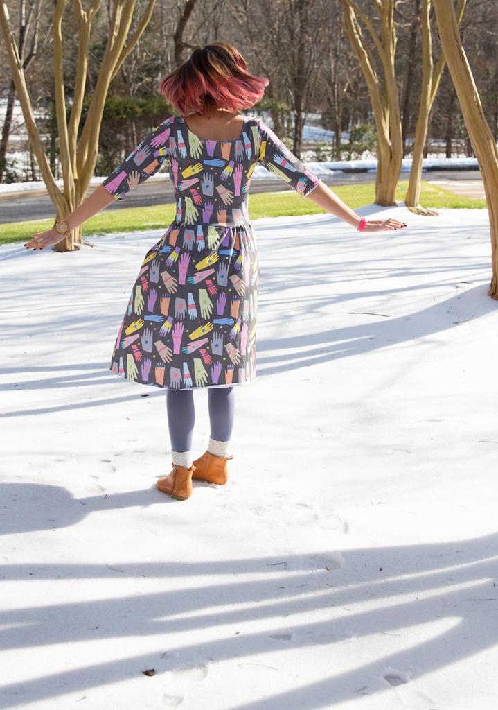 Moneta dress with Cotton Spandex Jersey