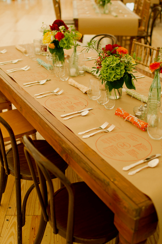 diy wedding place settings and textures