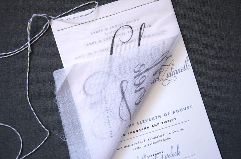 Harry Canary Fabric Invitation