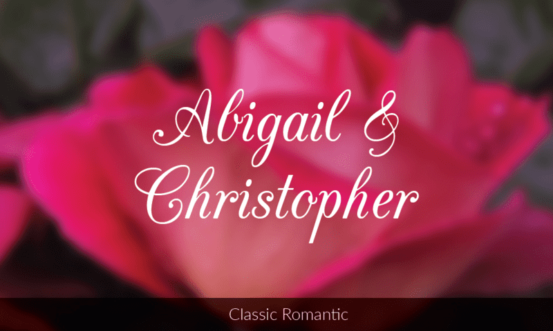 CAC Champagne font is perfect for a classic romantic wedding