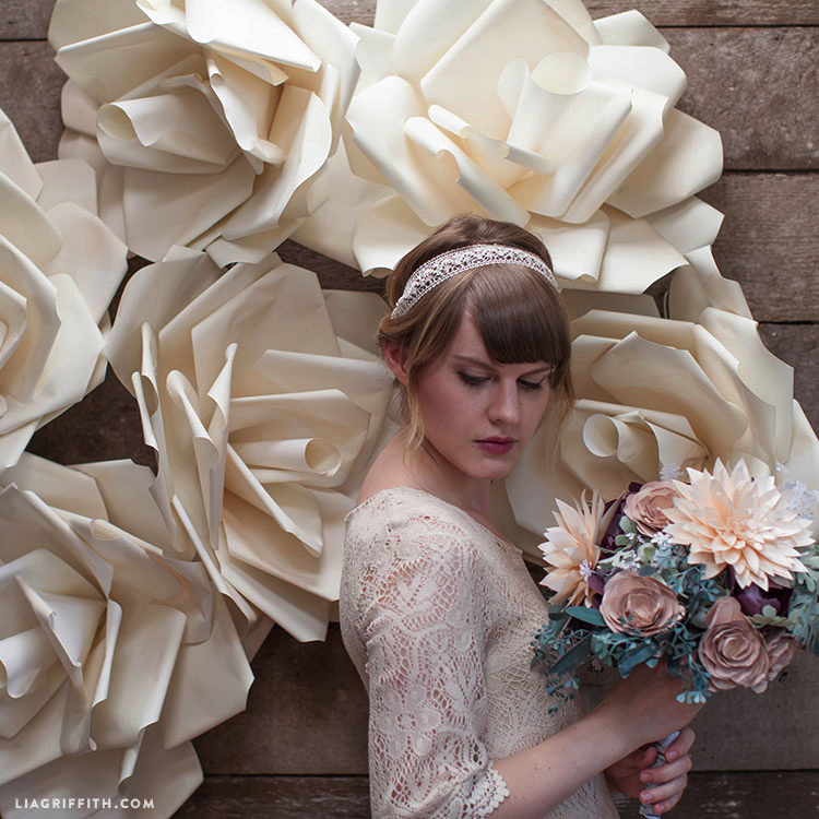 Jumbo paper flower backdrop for your DIY wedding