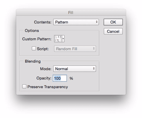 Get a closer look by creating a fill pattern in Photoshop