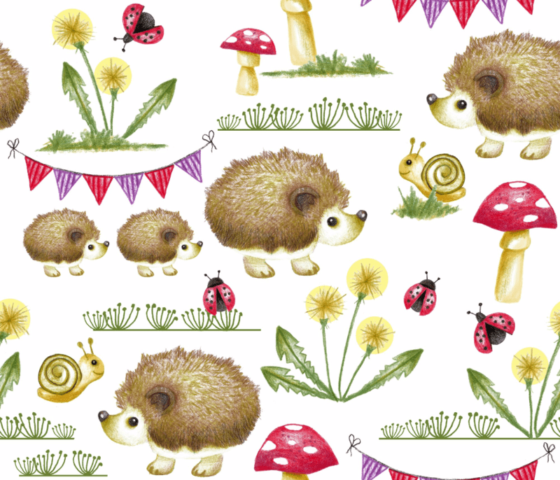 Hedgehog Garden Party