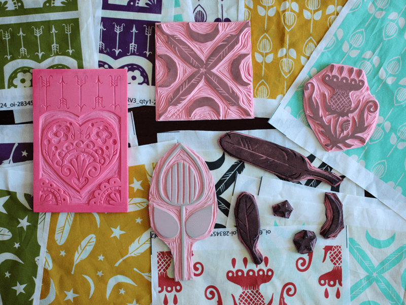 Design-A-Day SpoonChallenge Day 4: Block Prints
