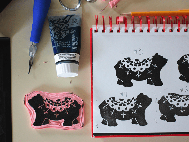 Design-A-Day SpoonChallenge Day 4: Block Prints with Rochelle New